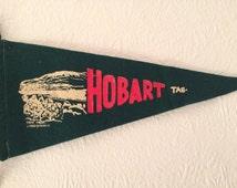 Vintage Hobart, Tasmania, Australia Double Sided Pennant Flag