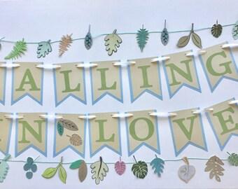 Falling in love banner, wedding banner, bridal shower, wedding decoration