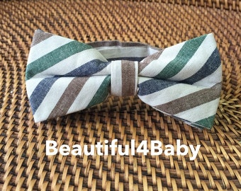Vintage Striped Adult Bow Tie