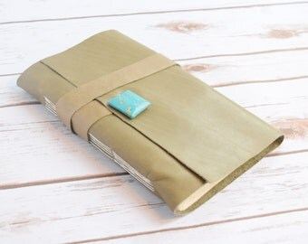 Travel  Journal - Personalized Large Leather Journal - Handmade Bound Book - Leather Diary - Writing Notebook - Sketchbook - engraved gift