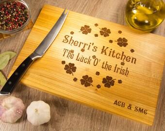Chopping Board Personalized, Cutting Board, Wedding Kitchen Cutting Board, Gift Anniversary, Cutting Board Engraved, Wood Cherry, Maple, Oak