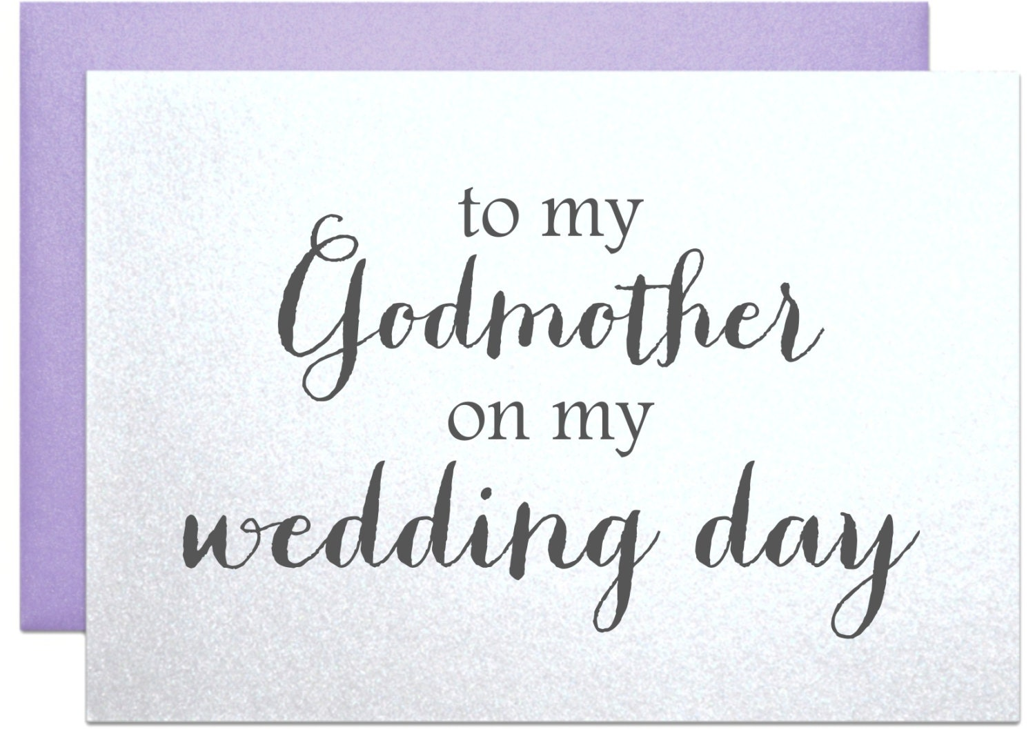 Godmother Wedding Gift: Godmother Wedding Card To My Godmother On My By PicmatCards