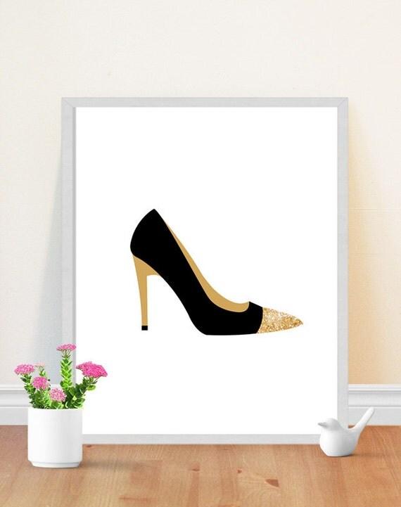 shoe print high heel print fashion illustration
