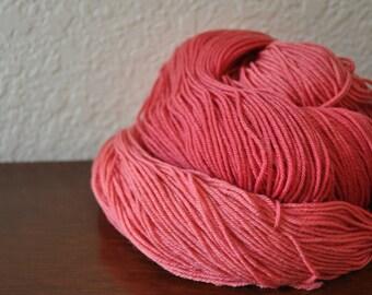 Cochineal - Naturally Dyed 4oz Sock Yarn - Merino/Nylon/Tencel