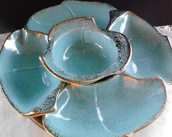 California pottery lazy susan