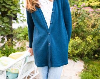 Doux et confortable cardigan en laine / Vintage / XS-SMALL /