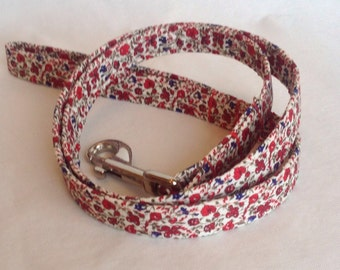 Handmade Liberty Fabric Dog Lead
