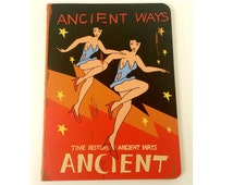 Mini Planner Notebook -Vintage dance-Kraft Paper/DIY Calendar Planner/Dancing Girl/Lined/notes/Softcover/Lightweight/50s/Pocket mini Planner