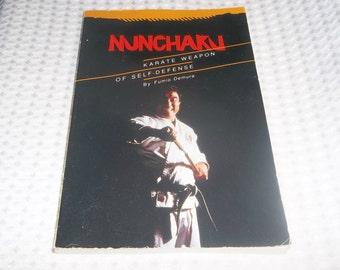 NUNCHAKU Paperback Book 1971 Karate Self Defense Nunchuks Fumio Demura Bruce Lee