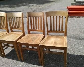 Gunlocke Oak Chair