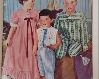 Enid Gilchrist Childrens Undies Beach and sleepwear  Pattern Vintage