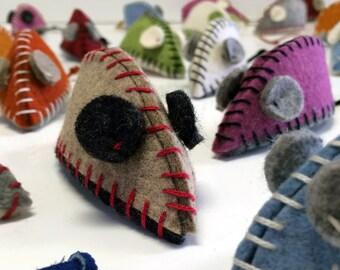 Hand-Stitched Cat Nip Mice