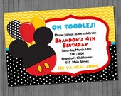 65% OFF SALE Mickey Mouse Party Invitations