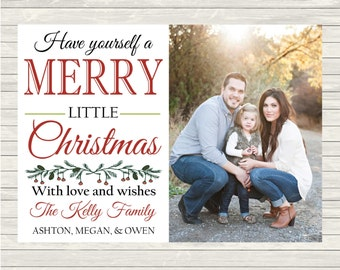 PRINTABLE Photo Christmas Card, Holiday Card, Holiday Christmas Card