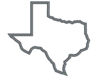Embroidery Design TEXAS State 3 Files (Applique, Triple Stitch Outline, and Filled) Instant Download