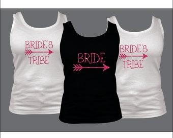 Bride Iron On, Bride's Tribe, Bridesmaid Gift, DIY Bridal Party, Bridal Party Gift, Rhinestone Hot Fix