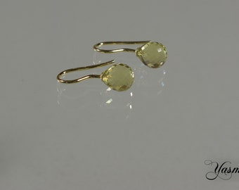 Faceted Citrinpampeln 925 silver gilt