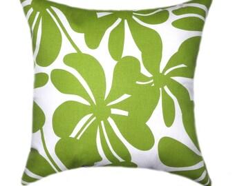 Green Pillows, Christmas Pillow Cover, Decorative Pillow, Green Throw Pillow, Chartreuse Pillow, Green Floral Pillow, Green Cushion Case
