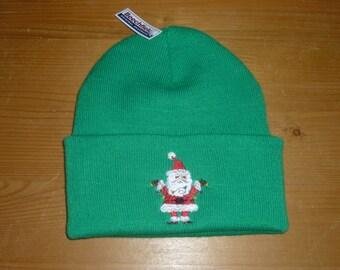Santa Beanie Hat Christmas Custom Embroidered