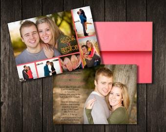 Classic Horizontal Photo Collage Wedding Invite