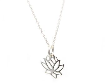 Sterling Silver/Rosgold Lotus Flower necklace