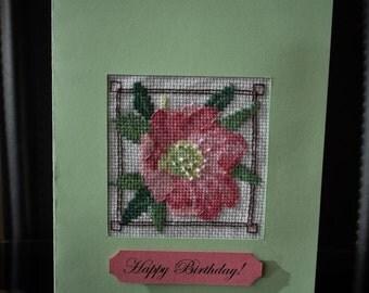 "Birthday Greeting card ""Flower"""