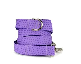 Purple Polka Dot Dog Leash, Purple Dog Leash, Polka Dot Leash, Boy Dog Leash, Girl Dog Leash, Fabric Dog Leash, Modern Dog Leash, Dog Lead