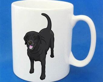Personalised Labrador dog range mug