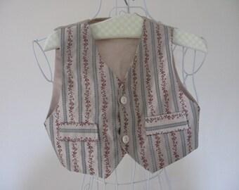 Boys Waistcoat - French Waistcoat - Vintage Waistcoat - Boys Formal Wear - Satin Waistcoat - Embroidery Waistcoat - Boys Formal Wear
