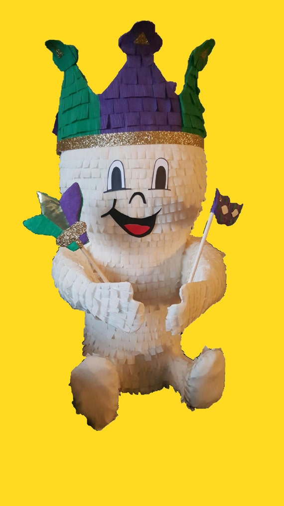 Mardi Gras Baby King Cake Pinata For Baby Shower Gender