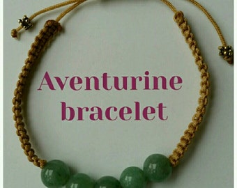 Aventurine quartz bracelet handmade