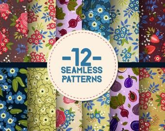 Download! - 12 Amazing Seamless Patterns - digital
