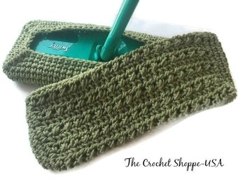 Swiffer Reusable Cover Crochet Tavern Green Ready to Ship