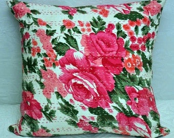 Kantha cushioncover Kantha pillowcover decorative pillowcover
