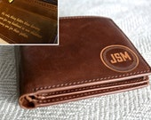 Personalized Men's Wallet - Custom Engraved