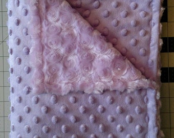 Lavender Rosebud Baby Blanket