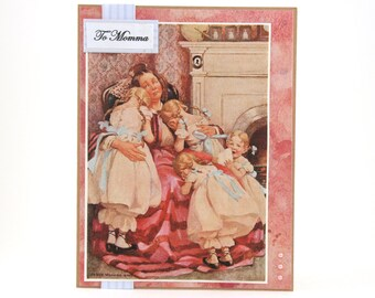 Mothers Day Card - Happy Mother's Day Card - Vintage Mothers Day Card