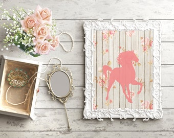 Unique Shabby Chic Horse Related Items Etsy