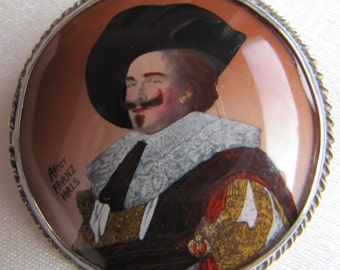 Vintage Laughing Cavalier Brooch