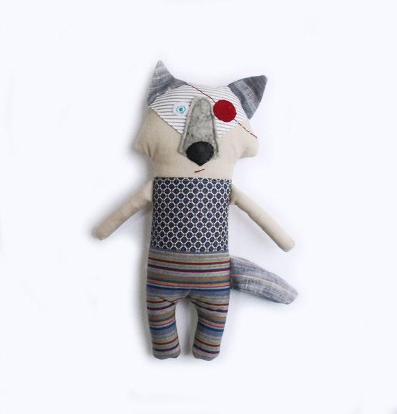 Wolf Toys For Boys : Wolf dollhandmade baby toy soft rag by tatadolls