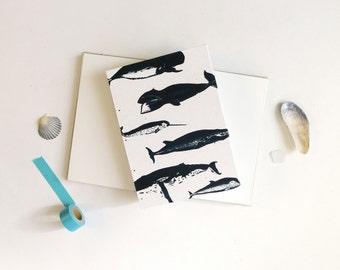 Whale Notebook / Blank Journal / Nautical Ocean Journal / Hand Bound Coptic Book