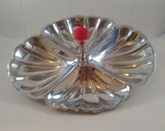 Vintage Silver Plated Shell Serving Dish