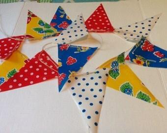 12' Garden Party Oilcloth Pennant Banner