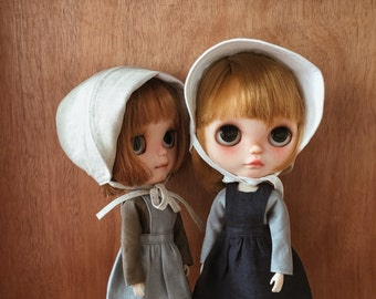 dollychacha - Linen Faced-protective Bonnet for Blythe