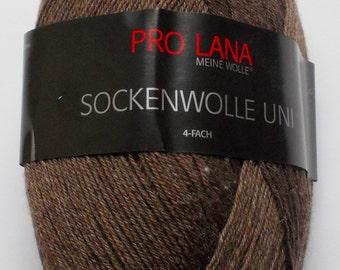 sock yarn 100g (5,-Euro/100g), darkbrown, 4ply (411)