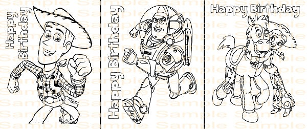 Toy Story Birthday Coloring Page Printable Party