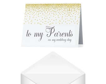 To My Parents on my Wedding Day Card- Parents Wedding Day Card- Brides Parents Card- Wedding Day Greeting Card- Parents Wedding Card