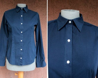 Barbour Navy Blue Shirt - Size S