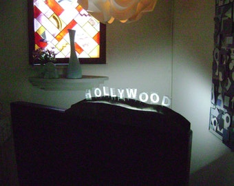 hollywood sign light,light sculpture,table lamp