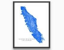 Vancouver Island Map, BC, British Columbia Canada, Victoria, Nanaimo, Tofino